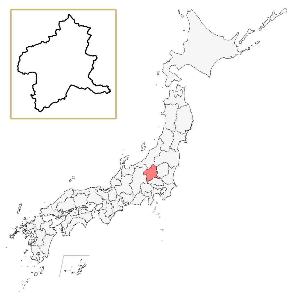 日本 群馬県 地図