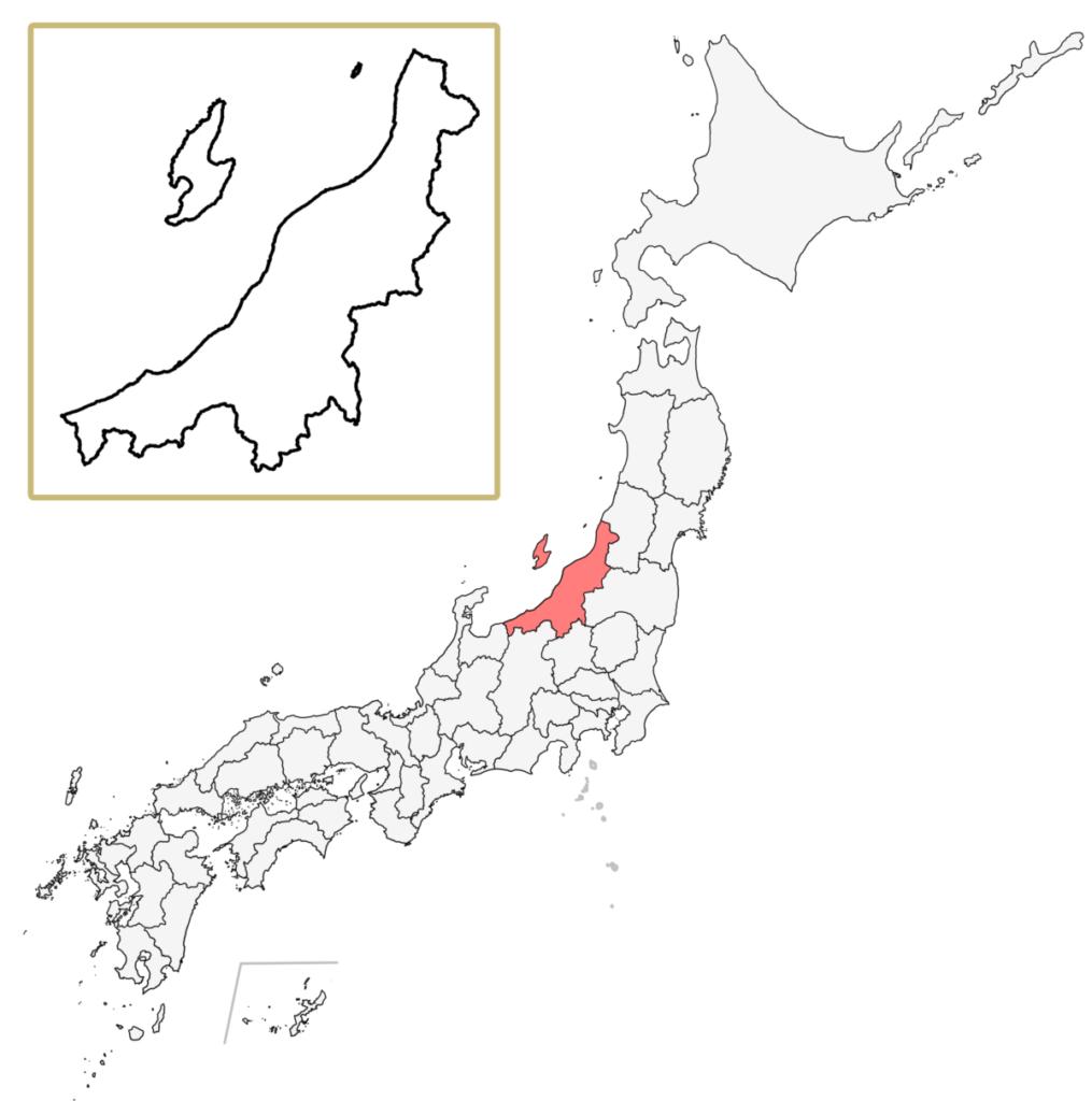 日本 新潟県 地図