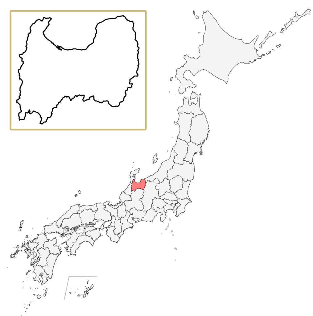 日本 富山県 地図