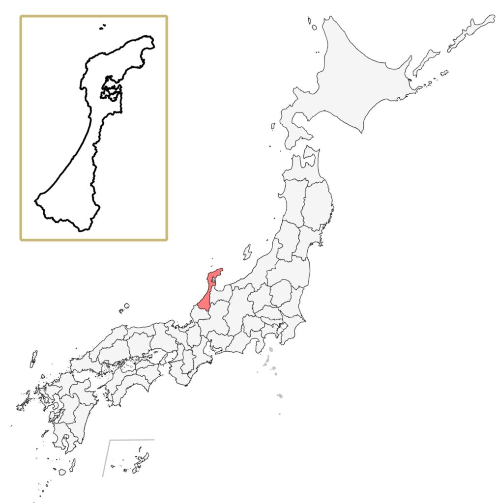 日本 石川県 地図