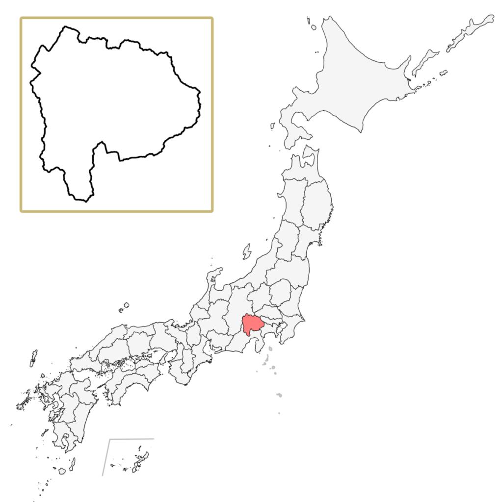 日本 山梨県 地図