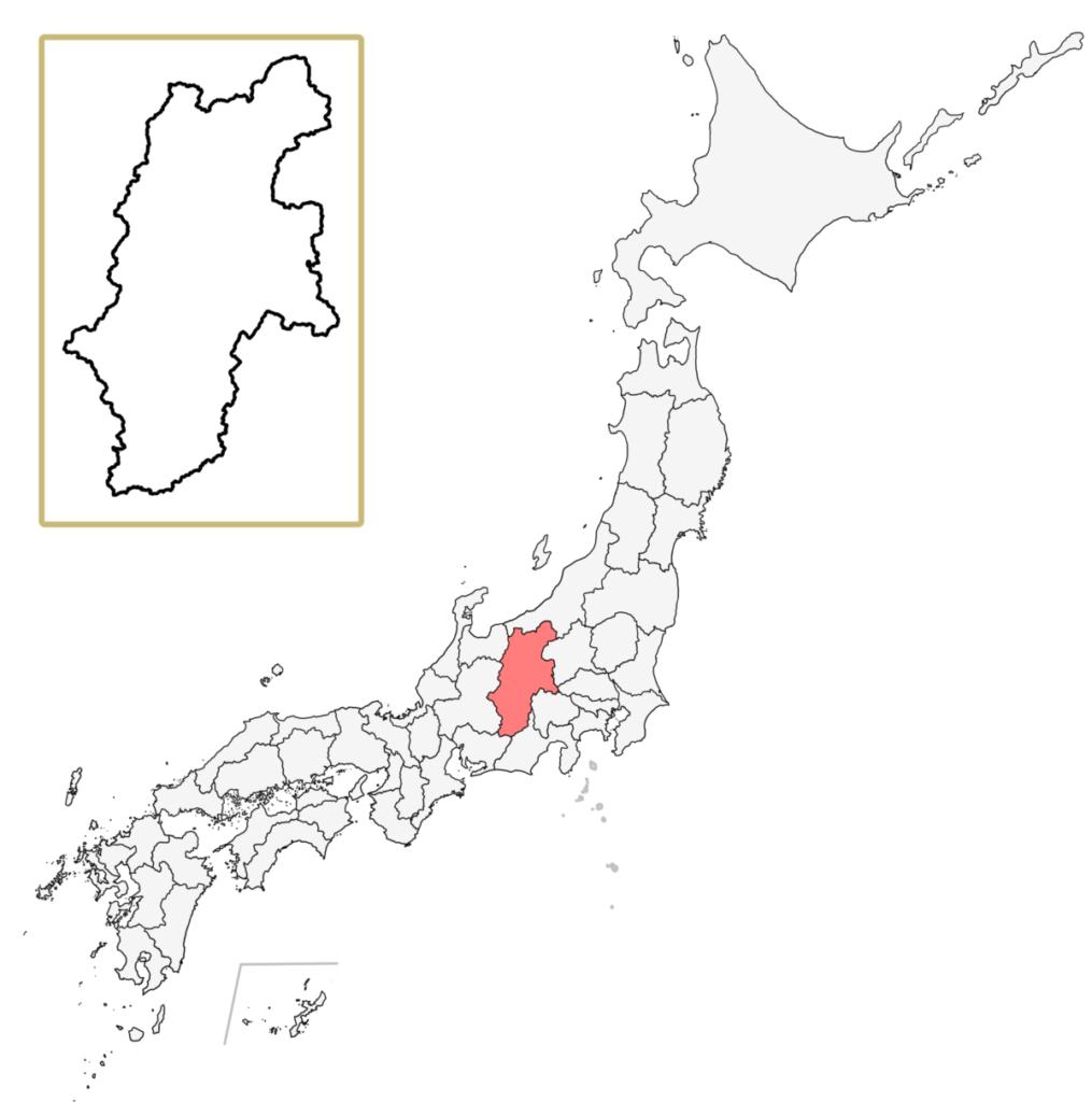 日本 長野県 地図