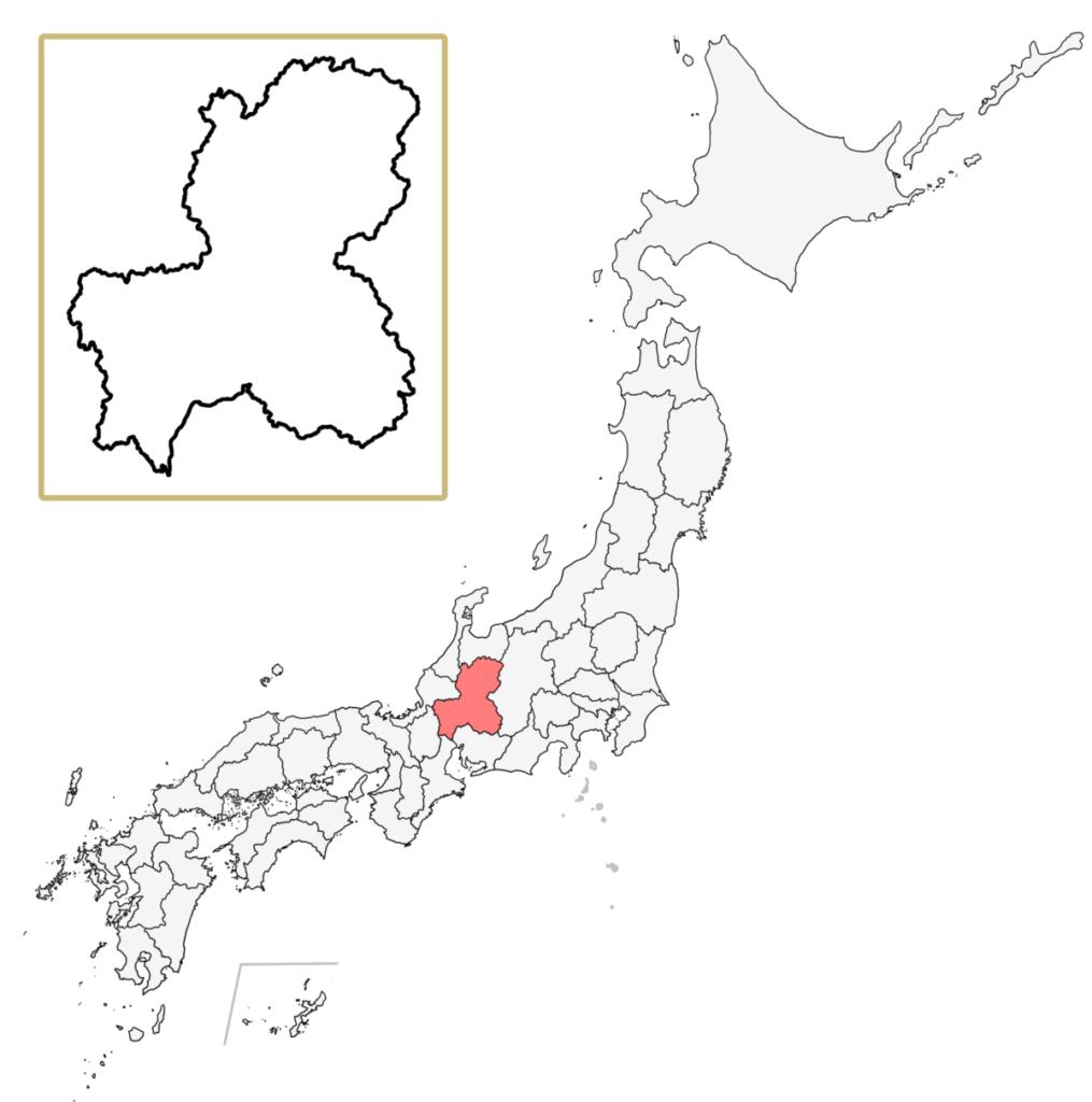 日本 岐阜県 地図