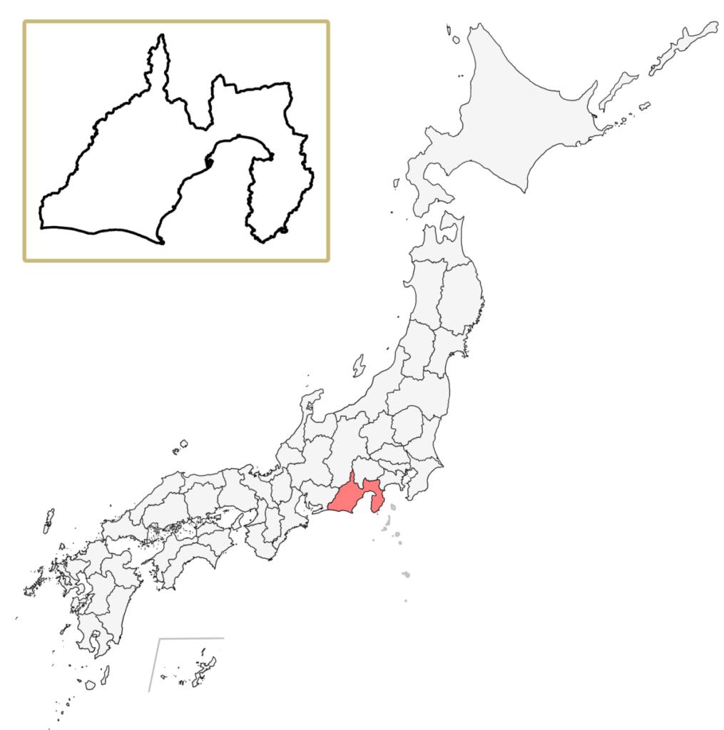 日本 静岡県 地図