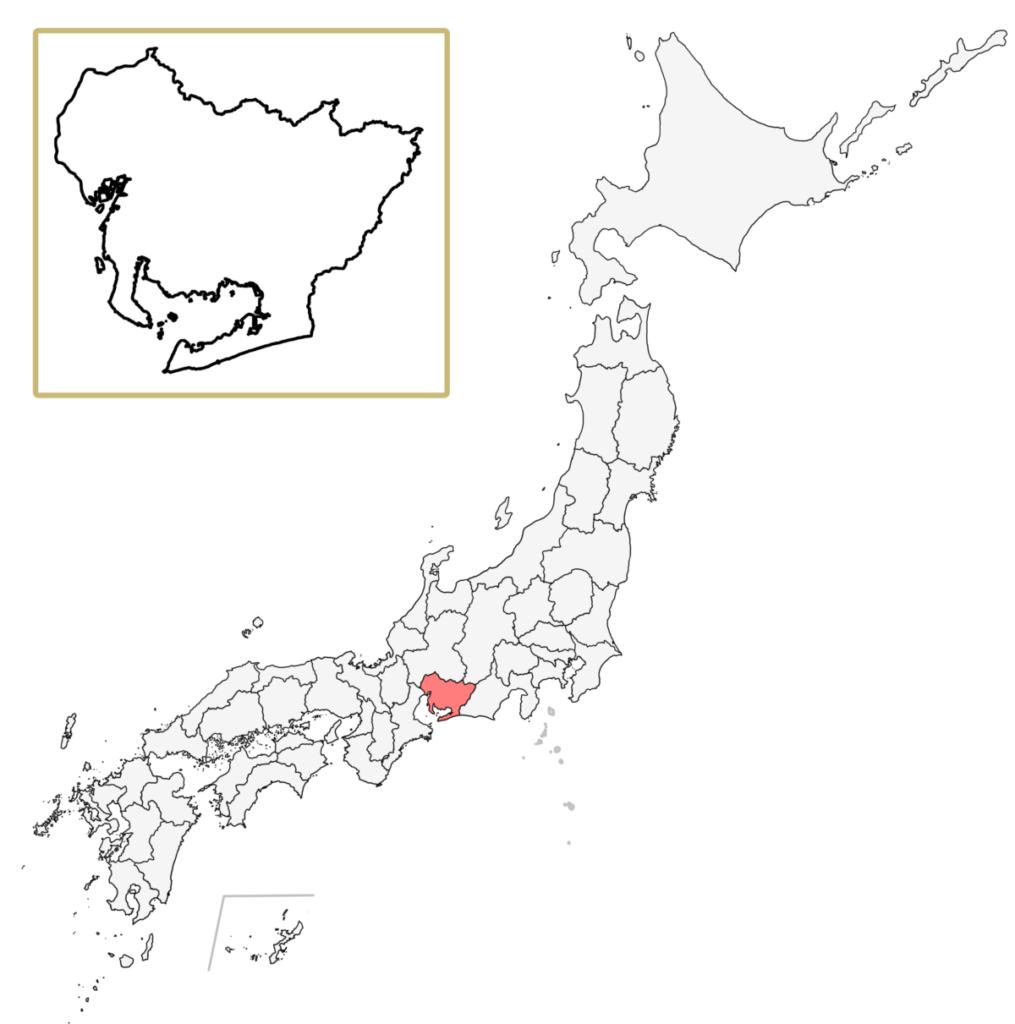 日本 愛知県 地図