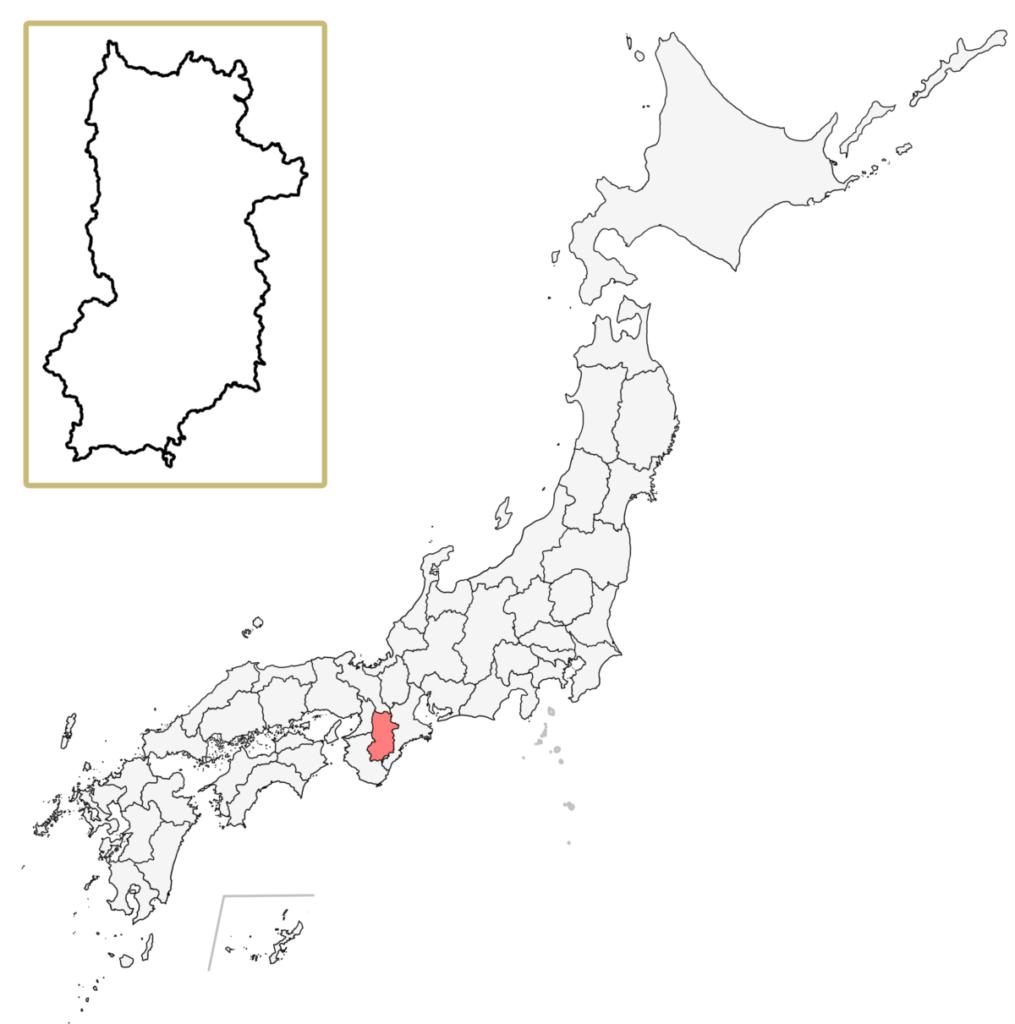 日本 奈良県 地図