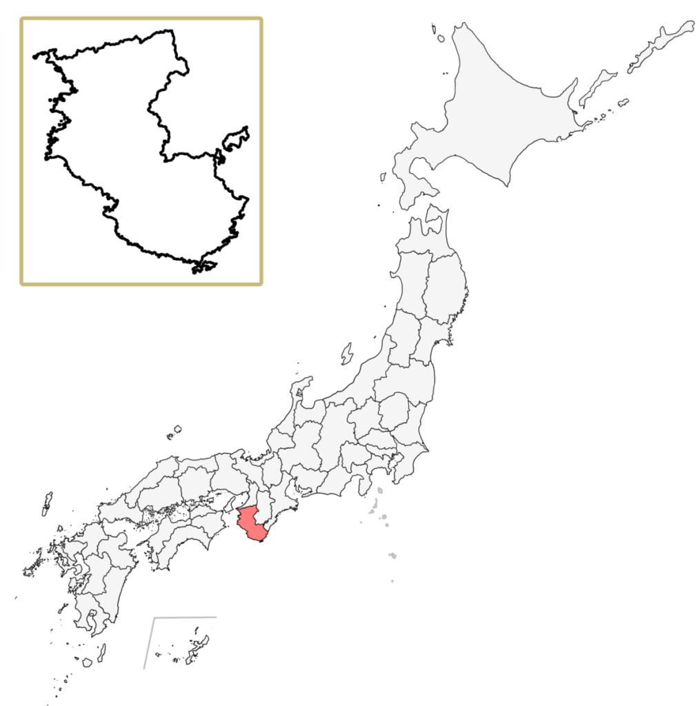 日本 和歌山県 地図