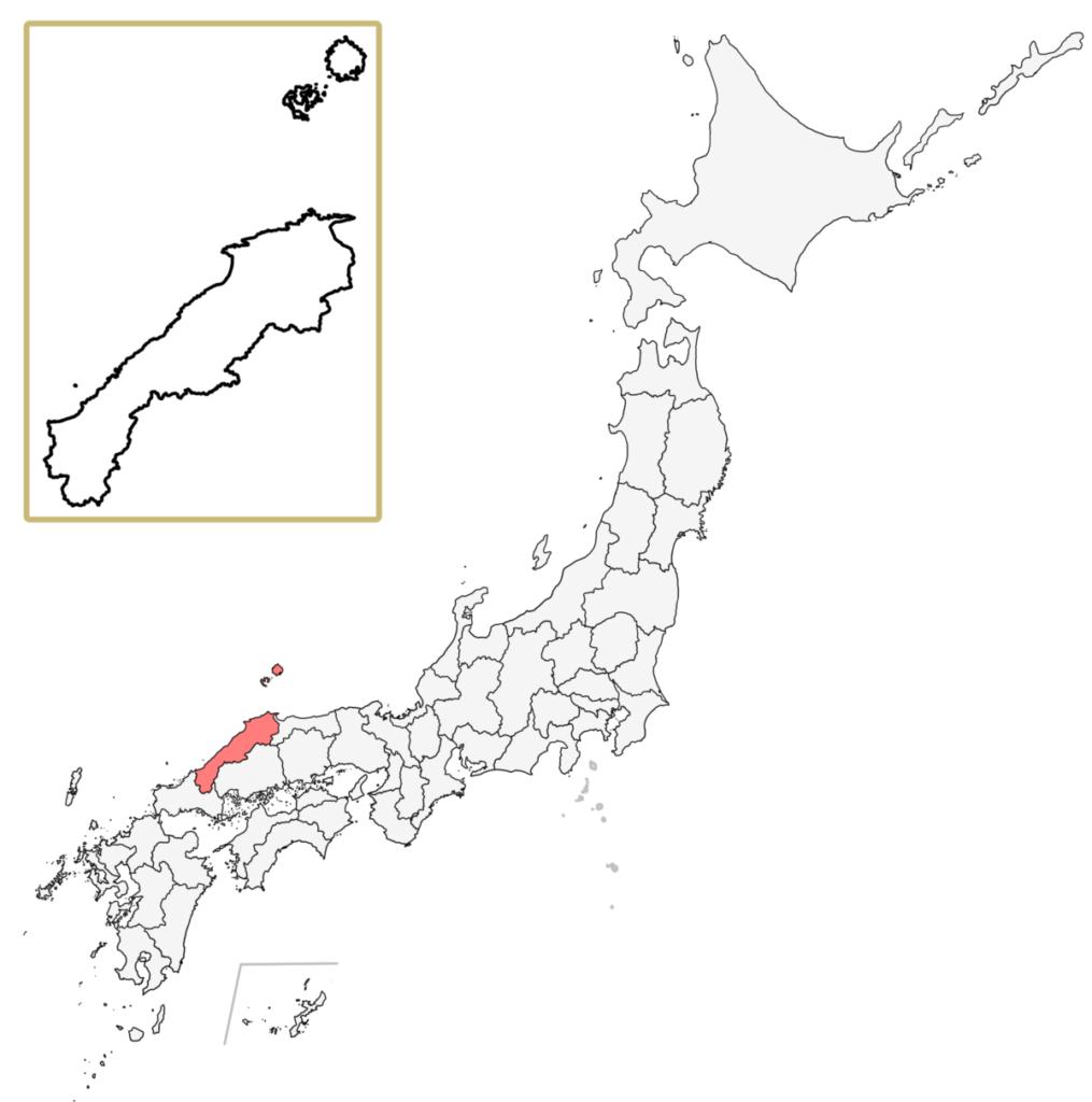 日本 島根県 地図