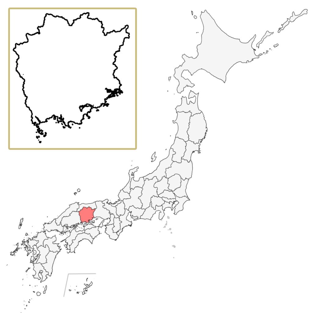 日本 岡山県 地図