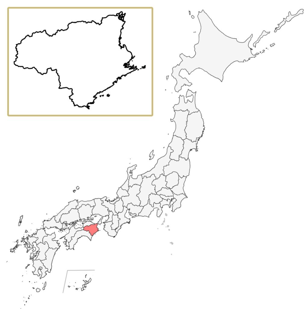 日本 徳島県 地図