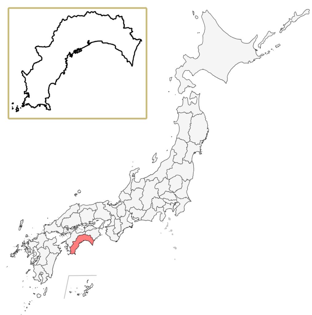 日本 高知県 地図