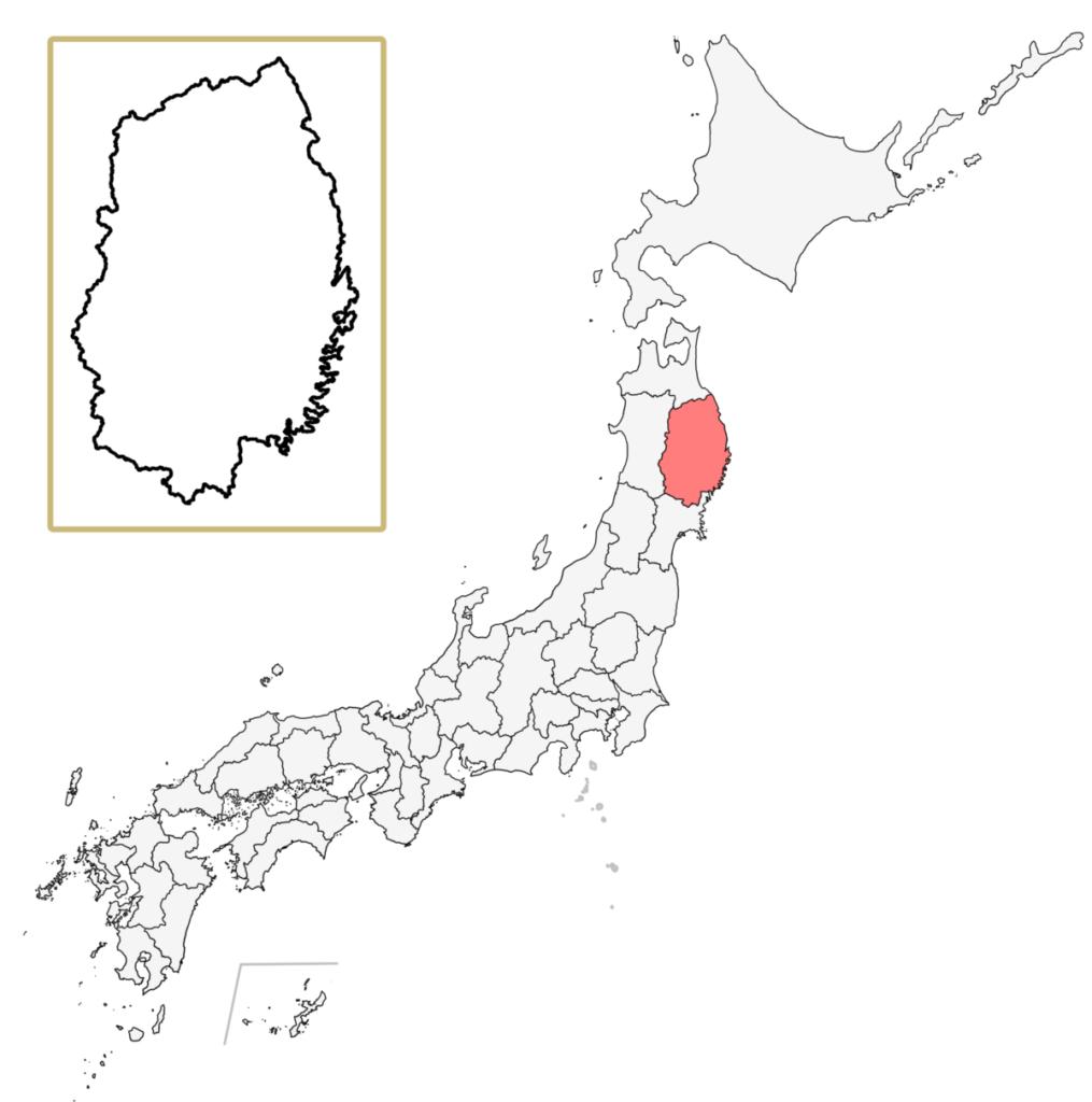 日本 岩手県 地図