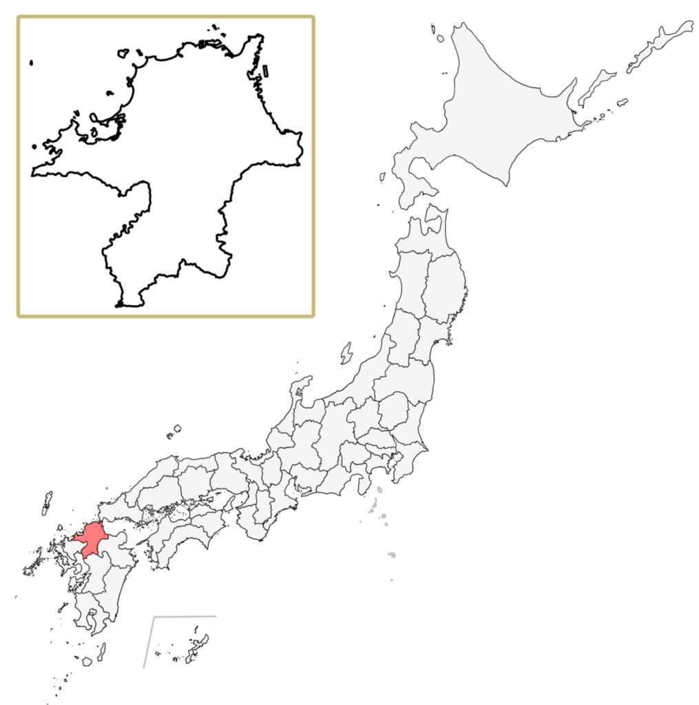 日本 福岡県 地図