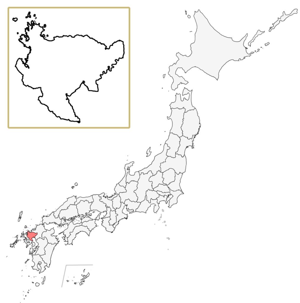 日本 佐賀県 地図