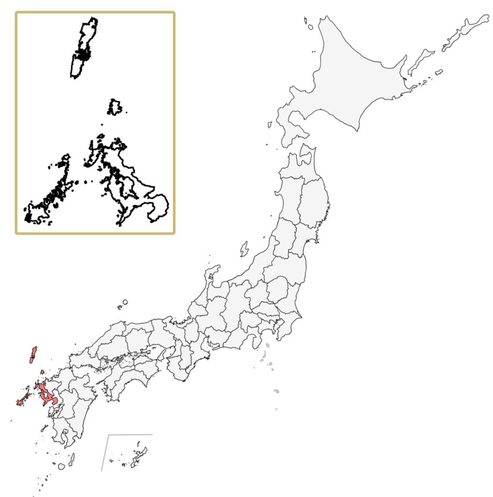 日本 長崎県 地図