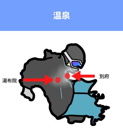 湯布院 別府 場所 地図 覚え方