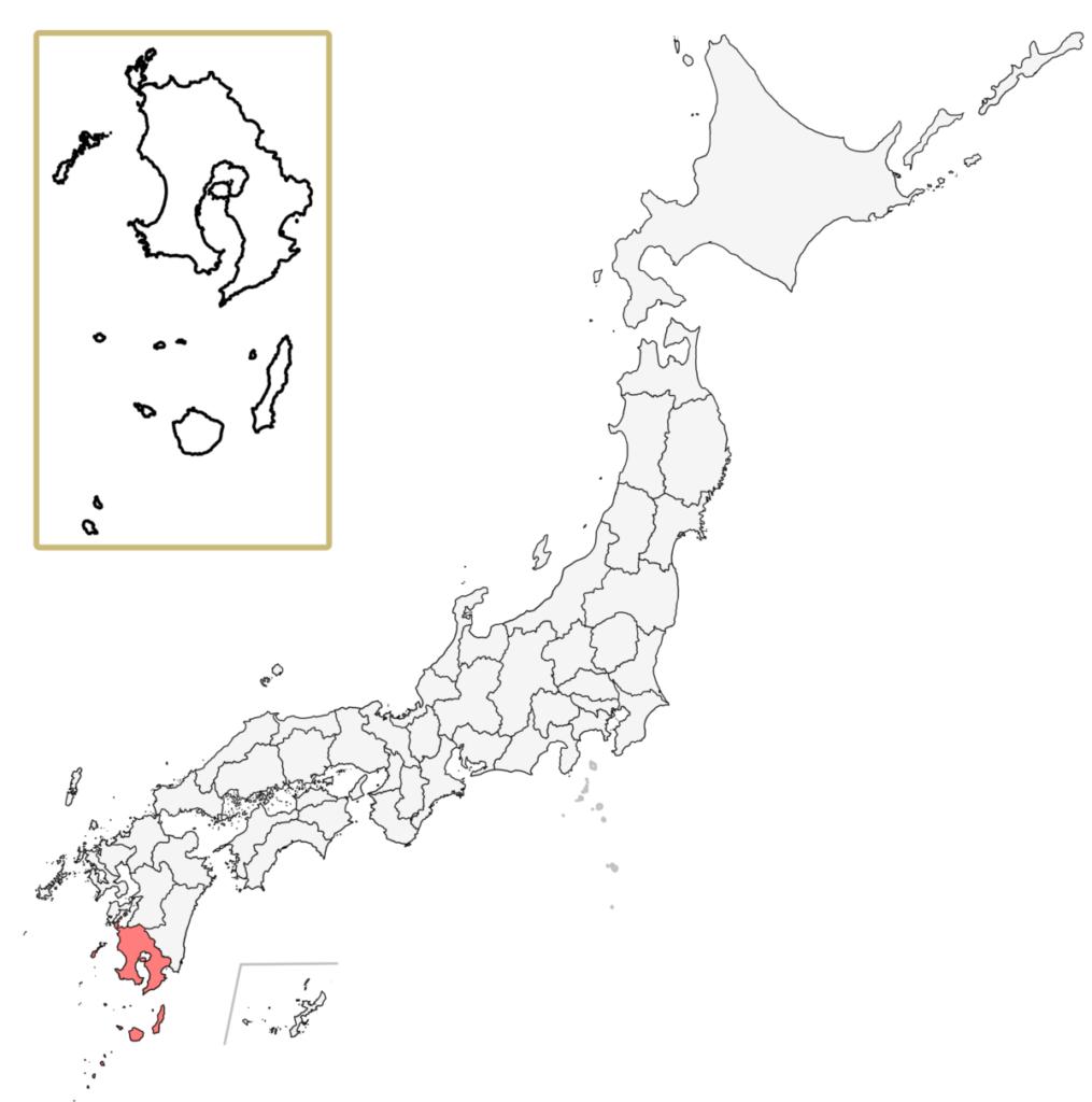 日本 鹿児島県 地図