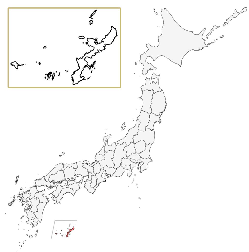日本 沖縄県 地図
