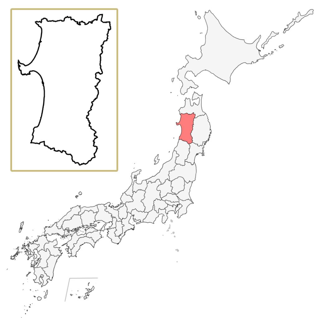 日本 秋田県 地図