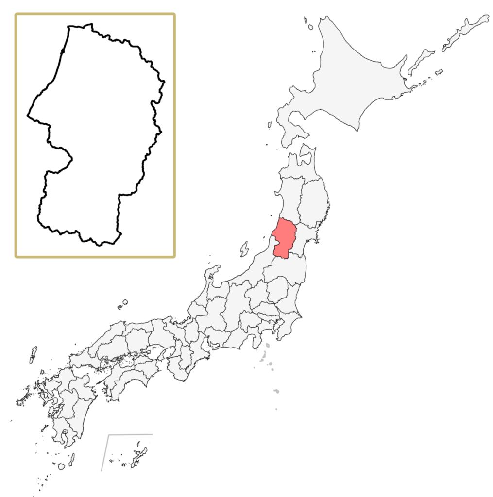 日本 山形県 地図