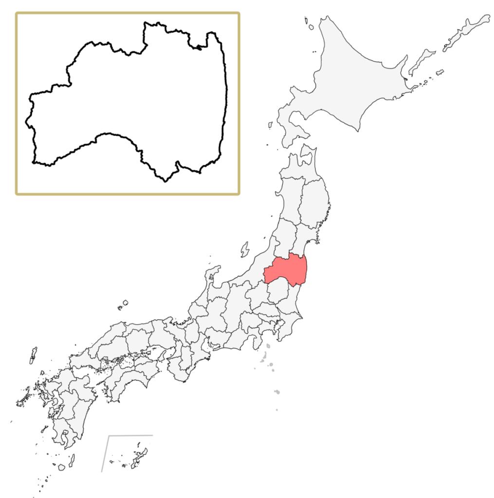 日本 福島県 地図