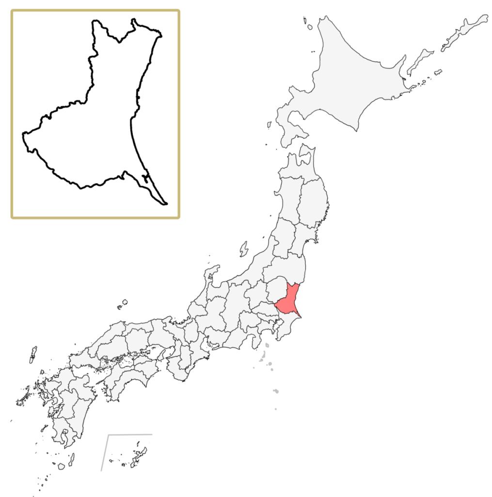 日本 茨城県 地図