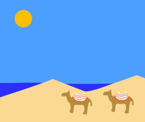 鳥取砂丘 イラスト
