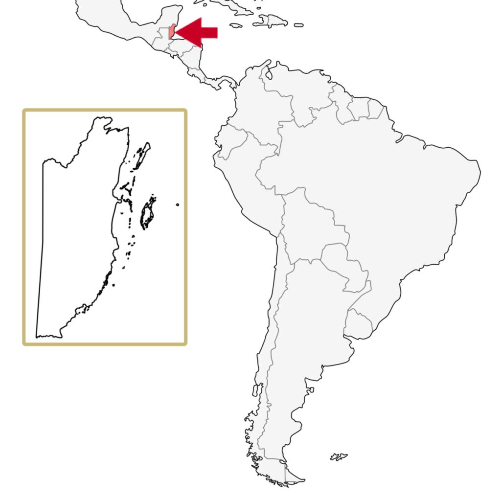 中米 ベリーズ 地図