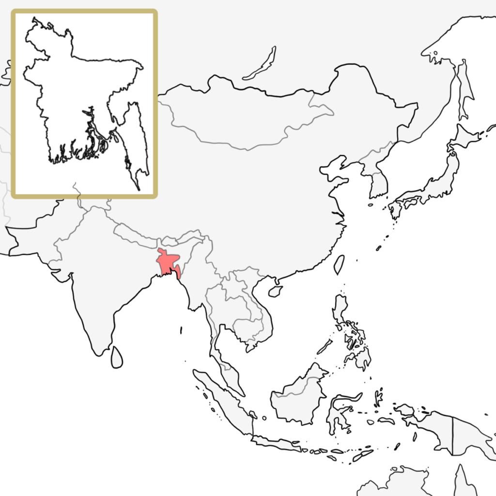 アジア バングラデシュ 地図
