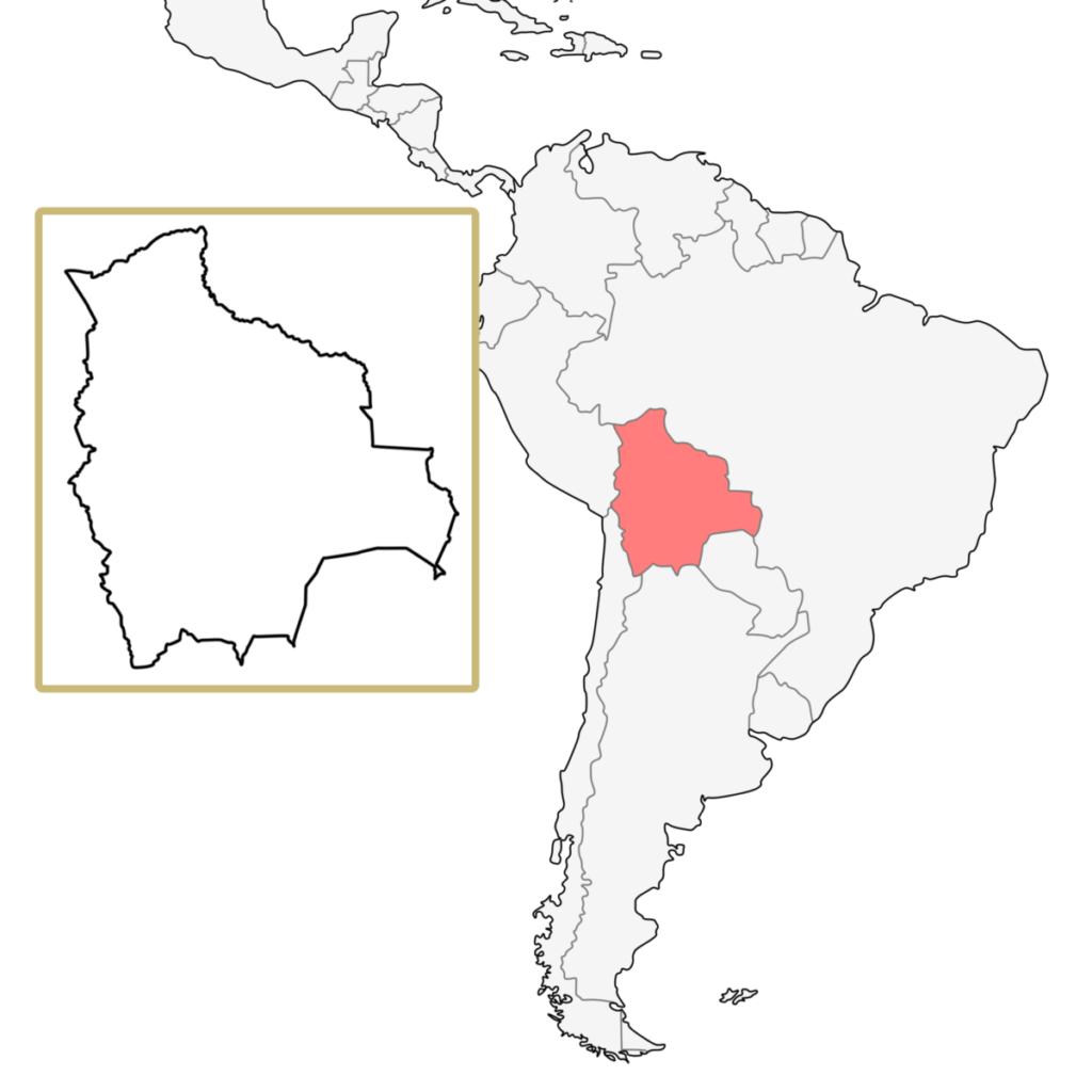 南米 ボリビア 地図