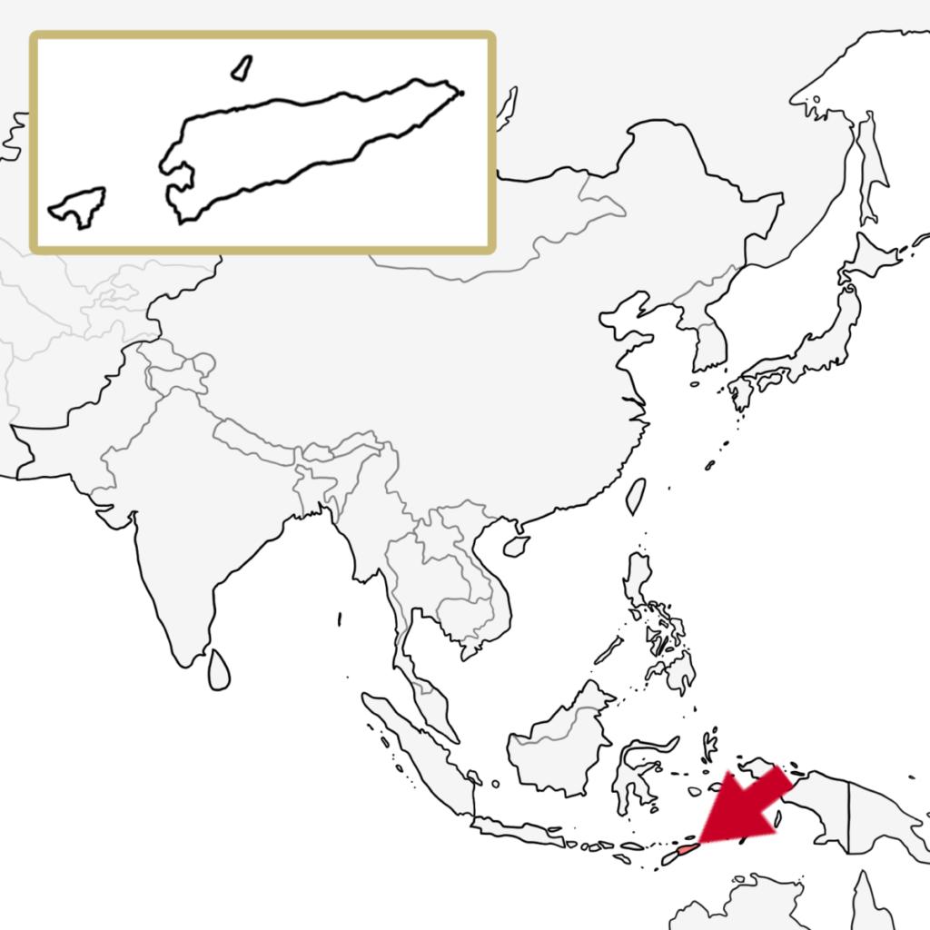 アジア 東ティモール 地図