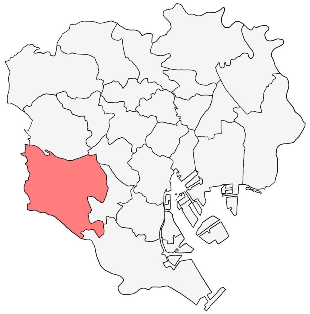 東京23区 世田谷区 白地図