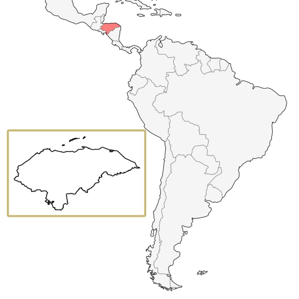 中米 ホンジュラス 地図