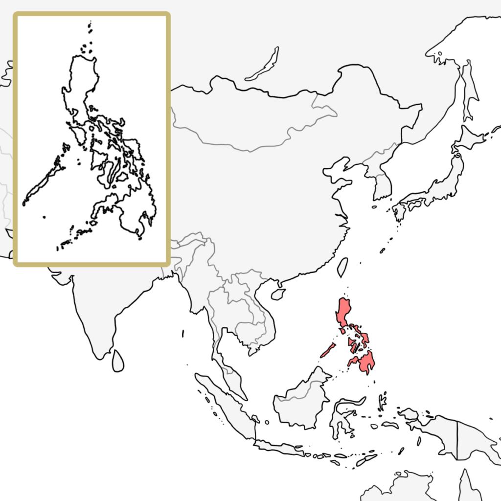 アジア フィリピン 地図