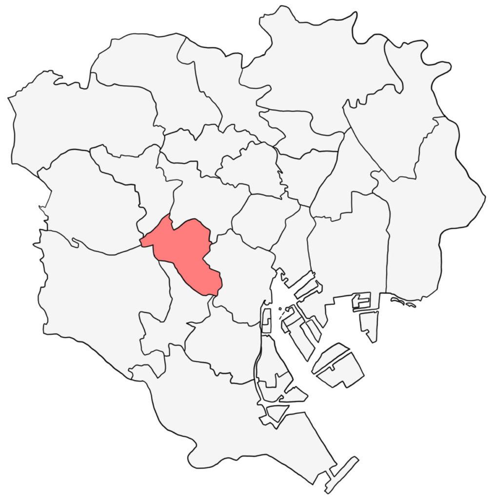 東京23区 渋谷区 白地図