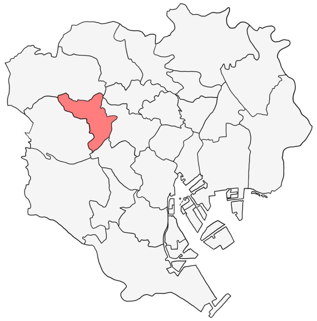東京23区 中野区 白地図