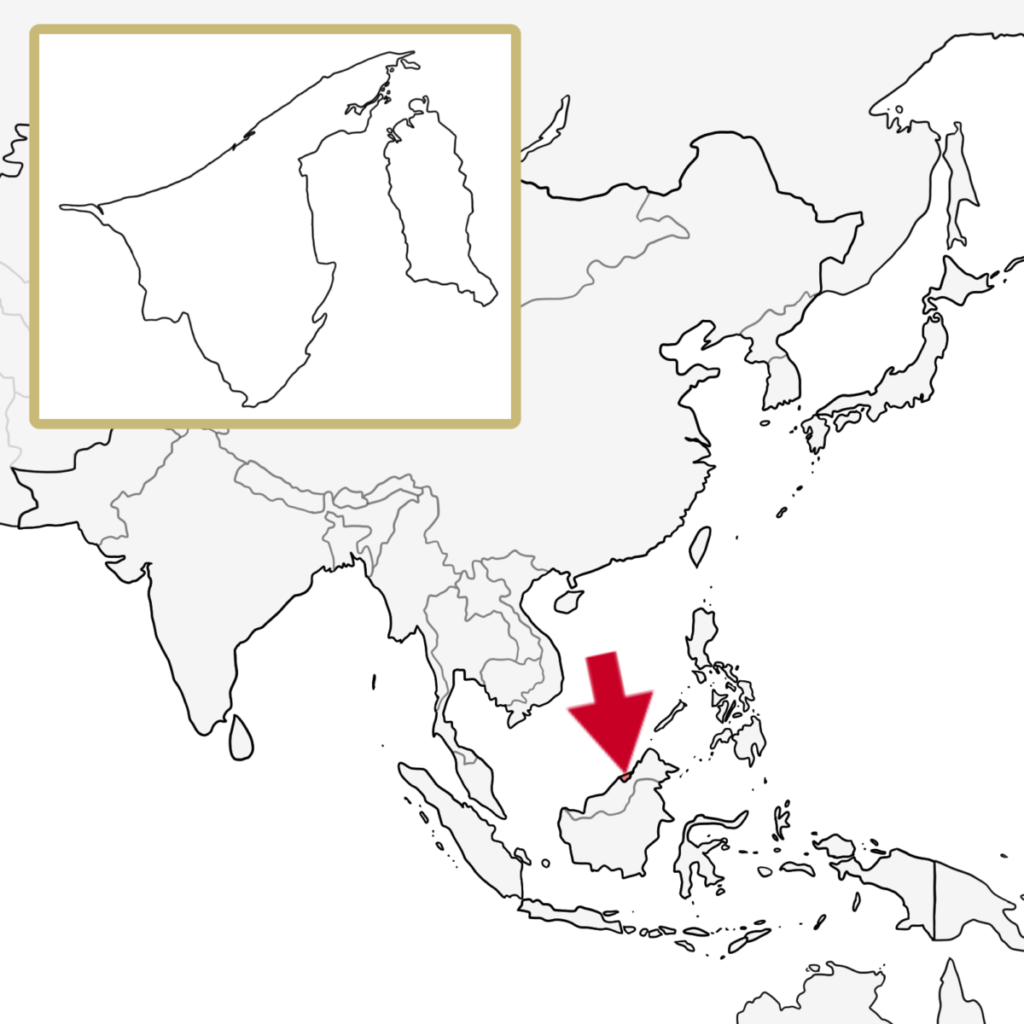 アジア ブルネイ 地図