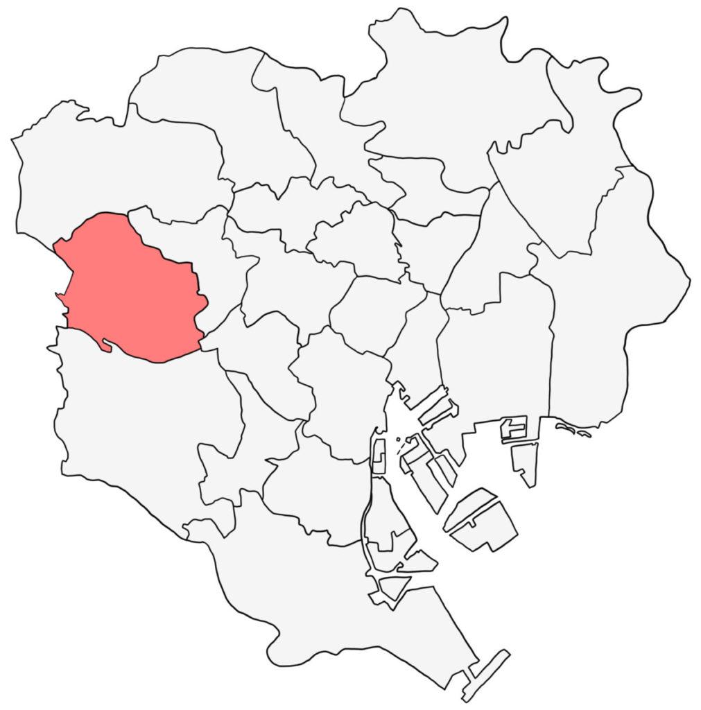 東京23区 杉並区 白地図