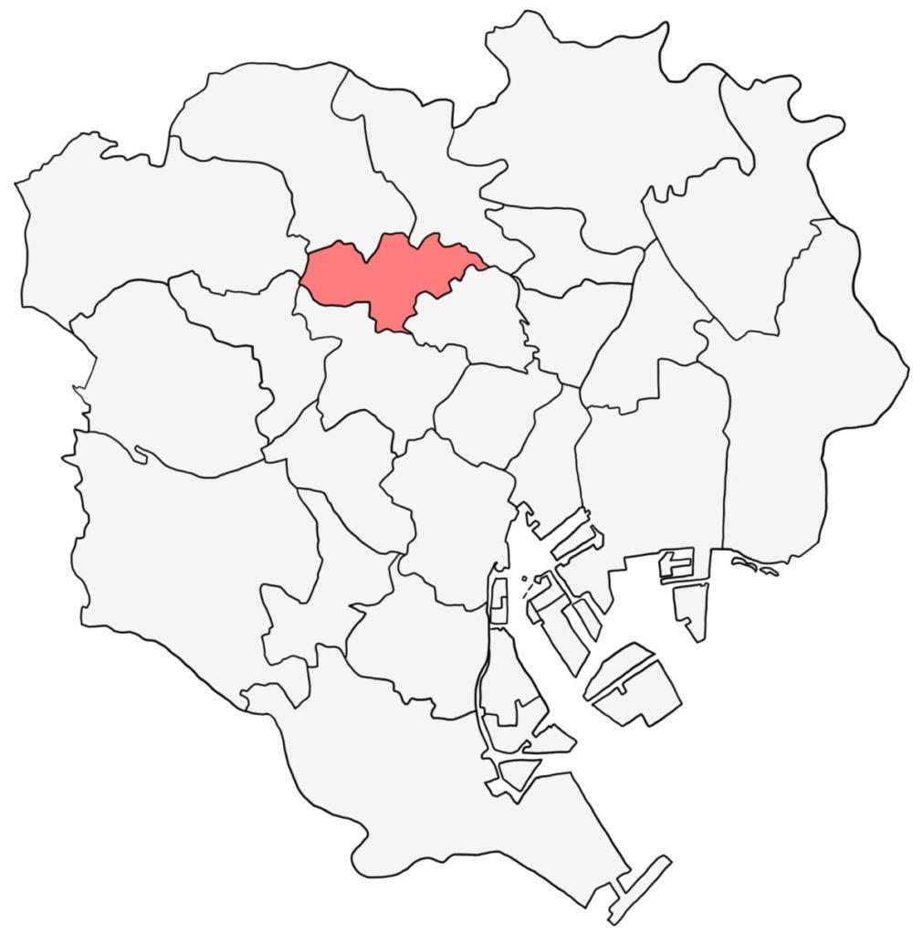 東京23区 豊島区 白地図
