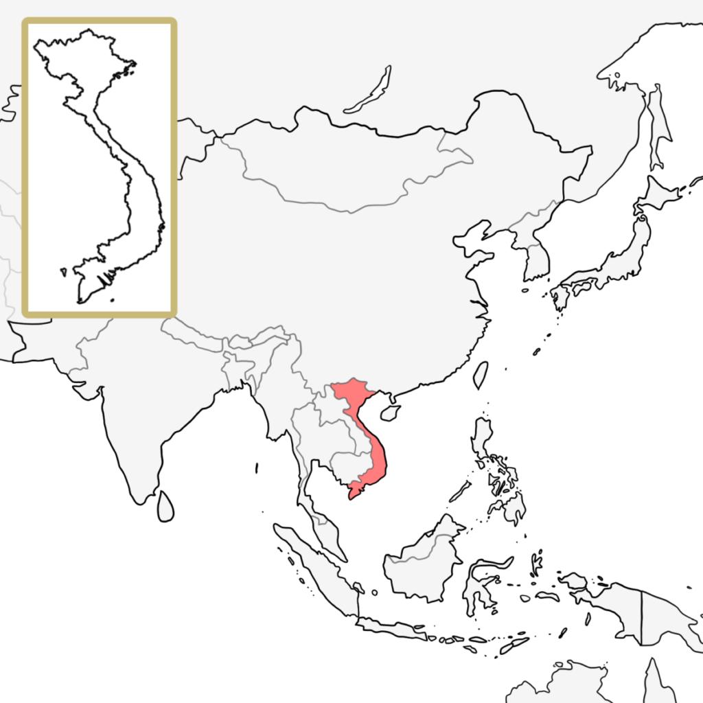 アジア ベトナム 地図