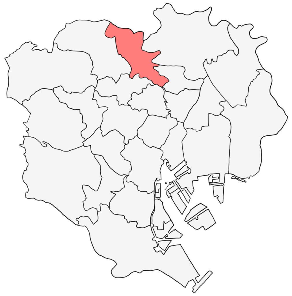 東京23区 北区 白地図