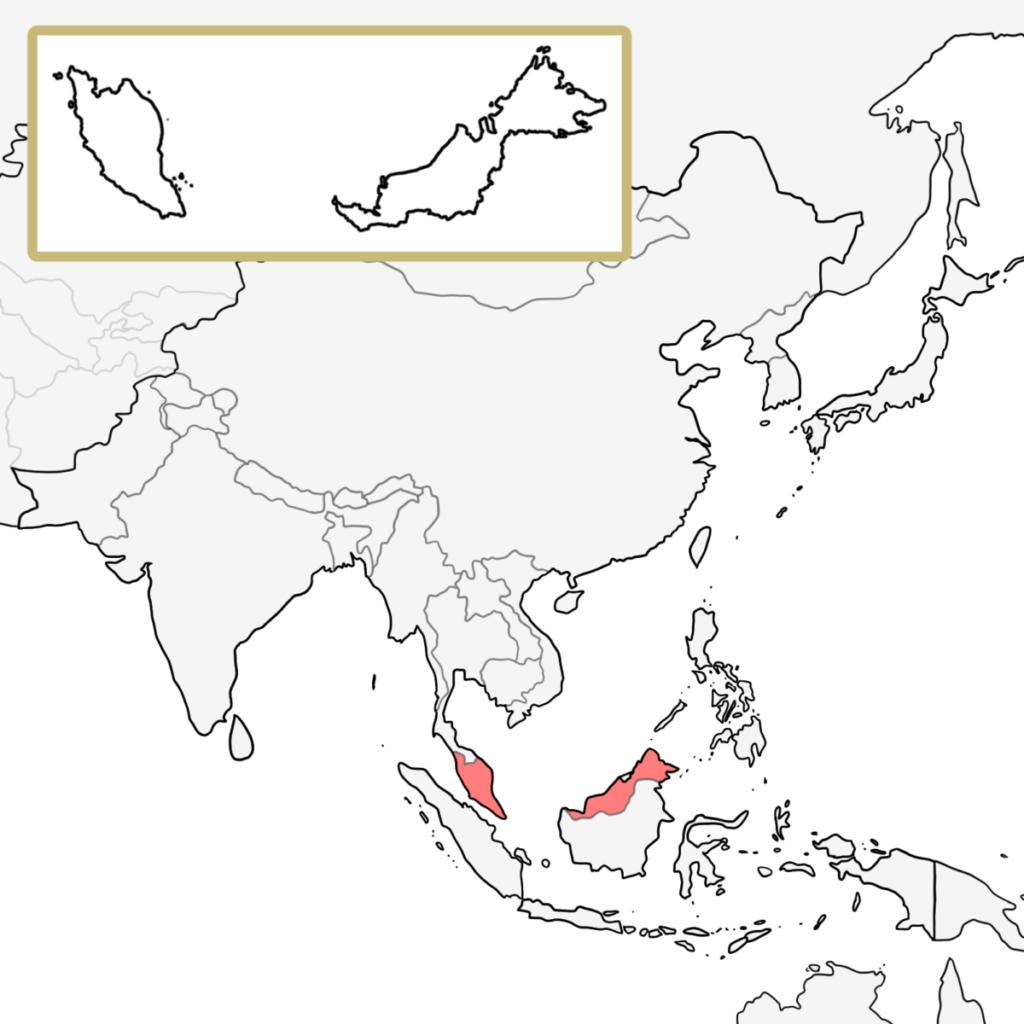 アジア マレーシア 地図