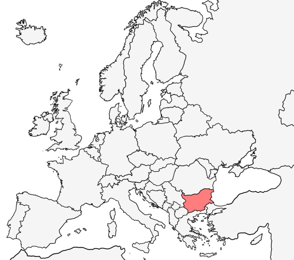 ヨーロッパ 白地図 ブルガリア