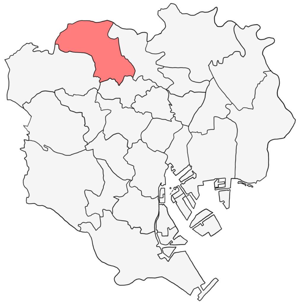 東京23区 板橋区 白地図