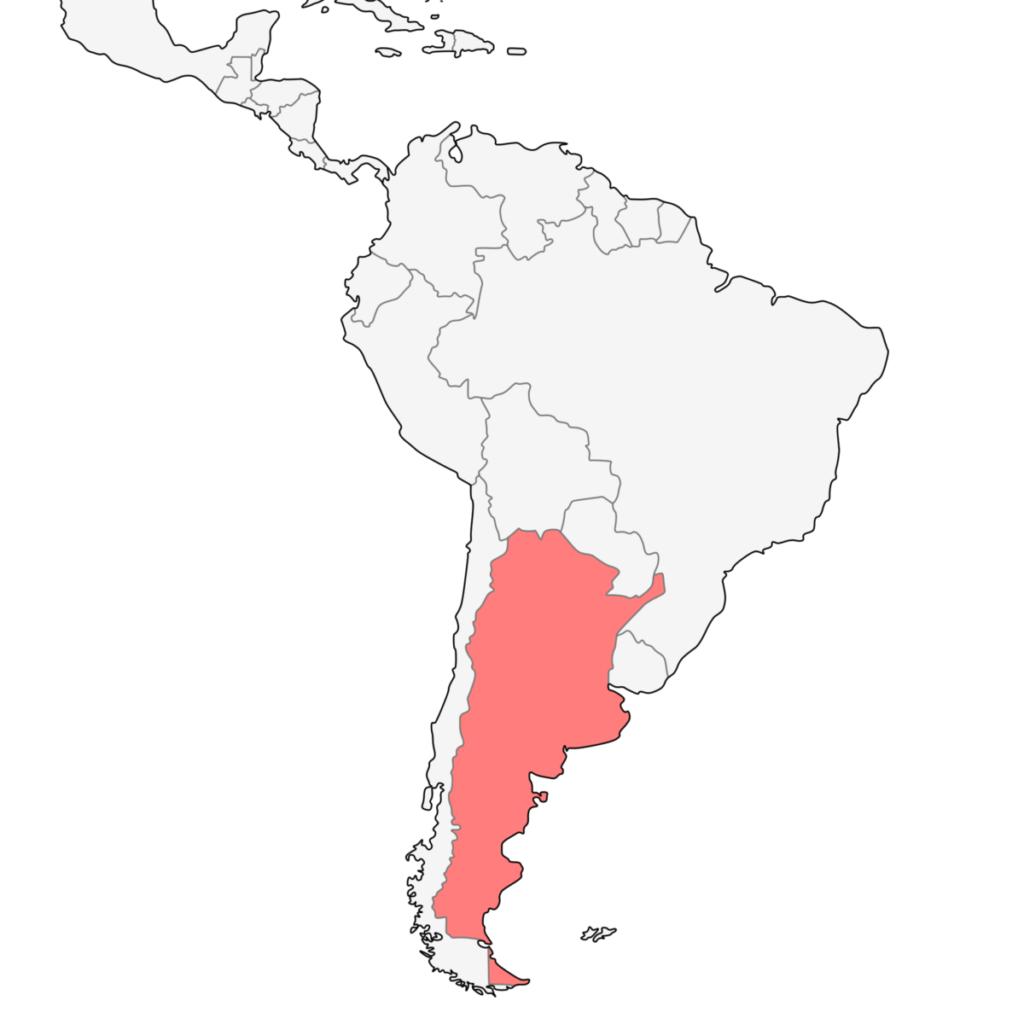南米 アルゼンチン 地図