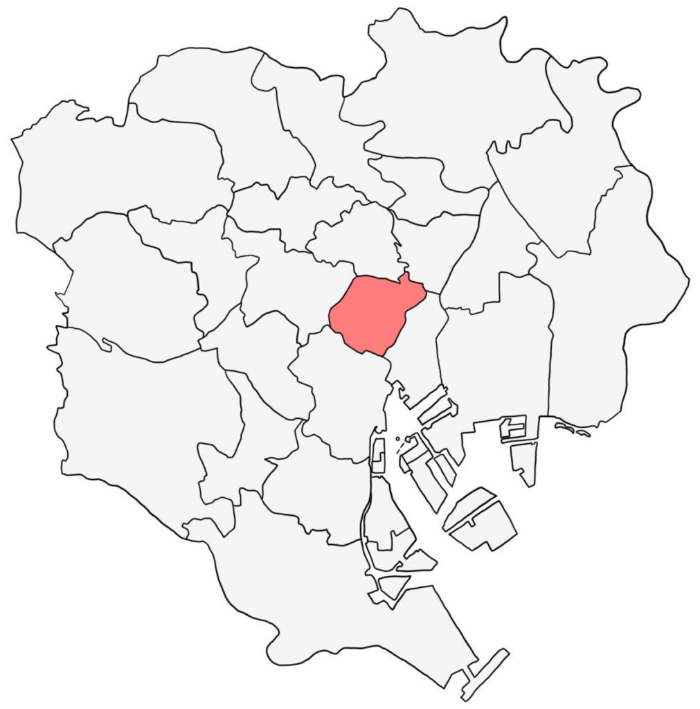 千代田区 白地図