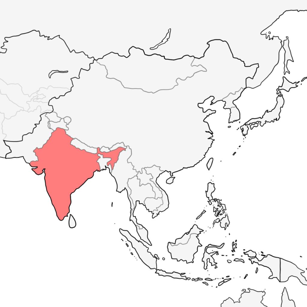 アジア インド 地図