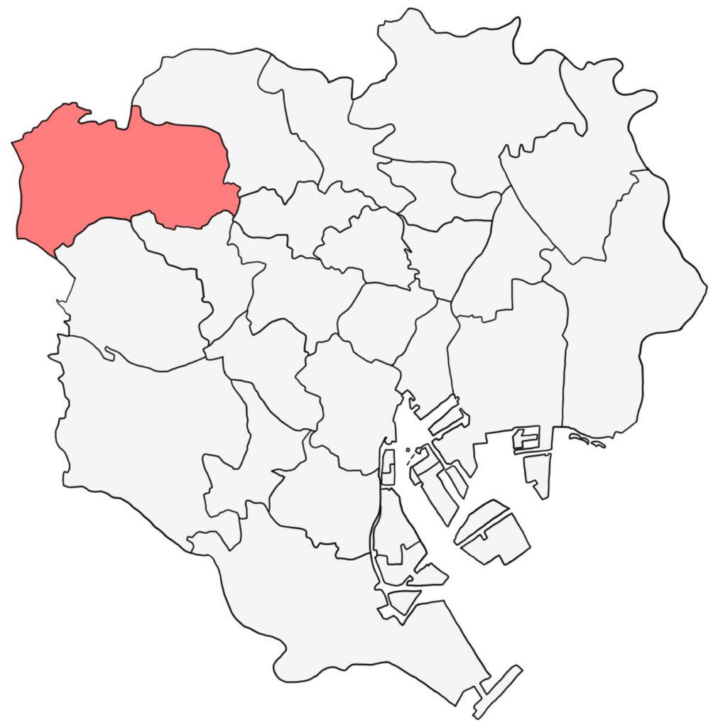 東京23区 練馬区 白地図
