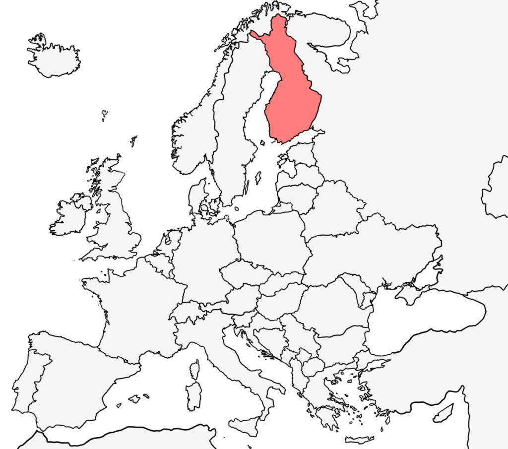 ヨーロッパ 白地図 フィンランド