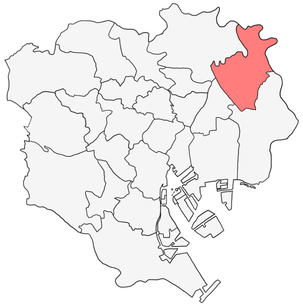 東京23区 葛飾区 白地図